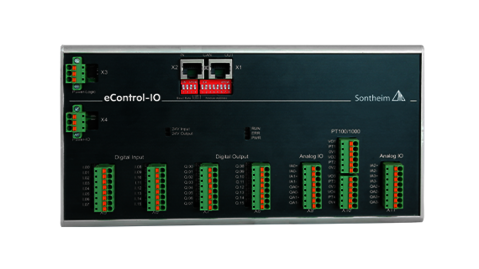 eControl-IO IO module with 16 digital inputs and outputs each