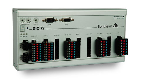 DIO72 IO module with 32 inputs and 40 outputs