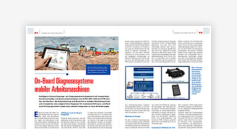 On-board diagnostic systems for mobile machinery